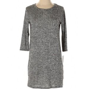 nwt Loveappella Nordstrom gray knit tunic top